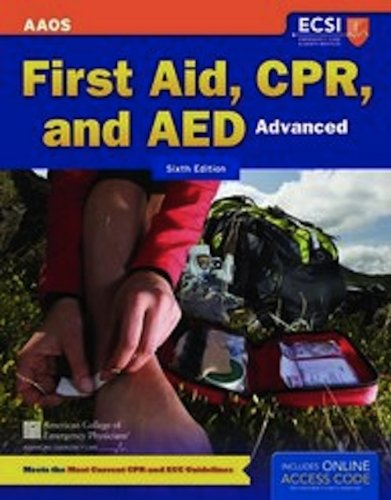 Advanced First Aid, CPR, and AED Advanced  6th 2012 9781449635053 Front Cover