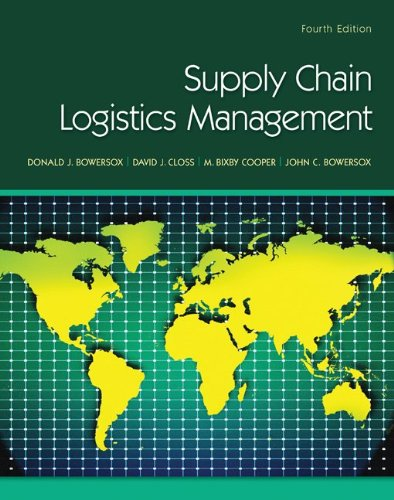 Supply Chain Logistics Management  4th 2013 edition cover