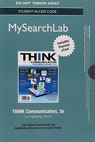 Think Communication  3rd 2015 9780133815054 Front Cover