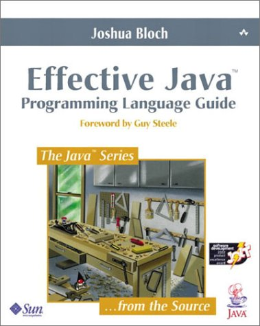 Effective Java Programming Language Guide  2001 edition cover