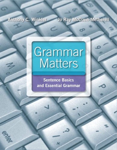 Grammar Matters  2nd 2012 (Teachers Edition, Instructors Manual, etc.) edition cover