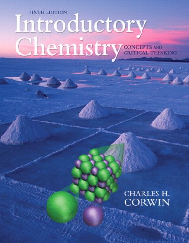 Introductory Chemistry Concepts and Critical Thinking 6th 2011 edition cover