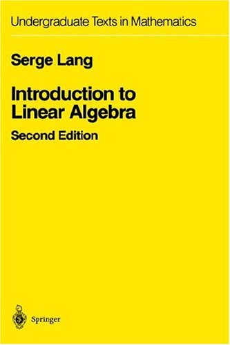 Introduction to Linear Algebra  2nd 1986 (Revised) edition cover