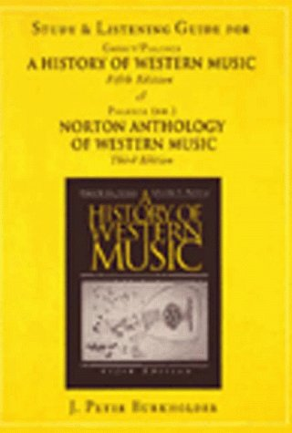 Study and Listening Guide  5th 1996 (Student Manual, Study Guide, etc.) 9780393969054 Front Cover
