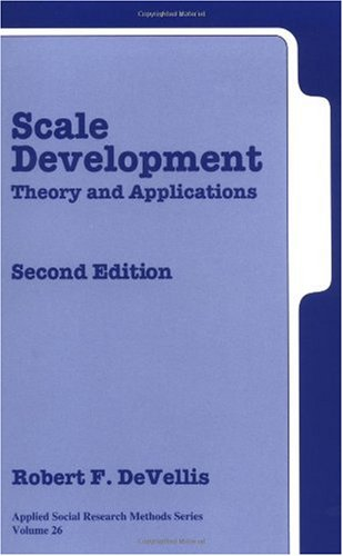 Scale Development Theory and Applications 2nd 2003 (Revised) edition cover