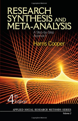 Research Synthesis and Meta-Analysis A Step-by-Step Approach 4th 2010 edition cover