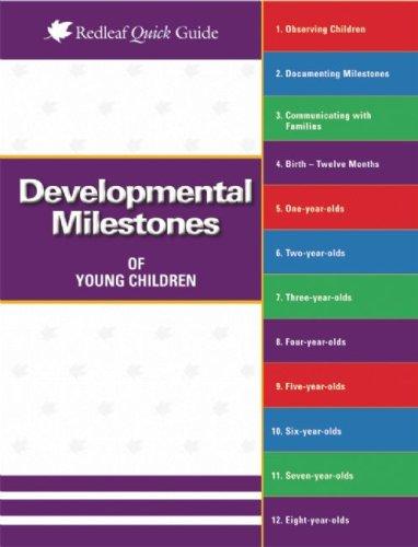 Developmental Milestones of Young Children   2009 edition cover