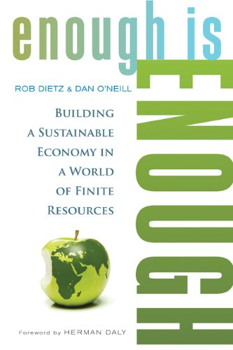Enough Is Enough Building a Sustainable Economy in a World of Finite Resources  2013 edition cover
