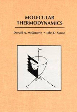 Molecular Thermodynamics   1999 edition cover