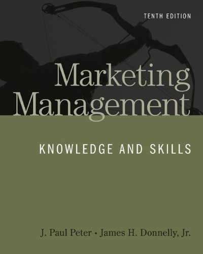 Marketing Management  10th 2011 edition cover
