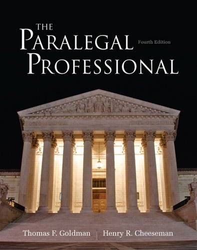 Paralegal Professional  4th 2014 edition cover