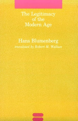 Legitimacy of the Modern Age   1985 edition cover