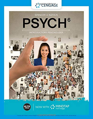 Psych + Mindtap, 1-term, 6 Months, Printed Access Card:   2019 9780357041055 Front Cover
