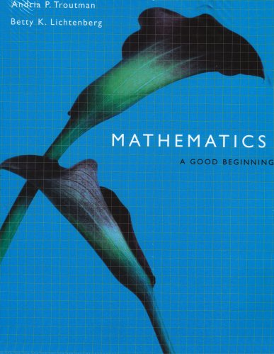 Mathematics A Good Beginning 6th 2003 (Revised) 9780534529055 Front Cover