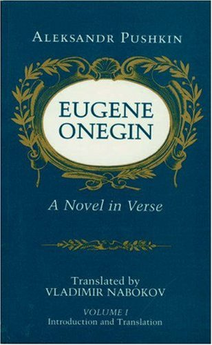 Eugene Onegin A Novel in Verse  1991 (Reprint) 9780691019055 Front Cover