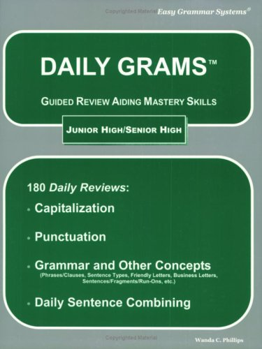 Daily Grams Guided Review Aiding Mastery Skills: Jr. /Sr. High N/A edition cover