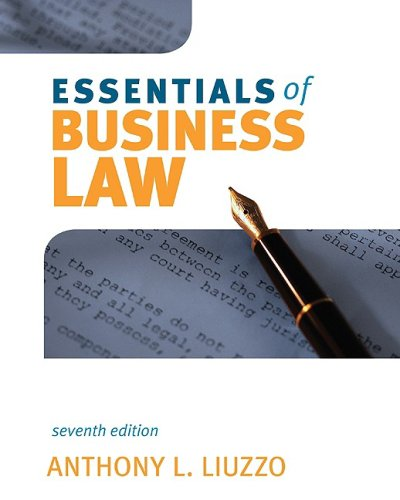 Essentials of Business Law  7th 2010 edition cover