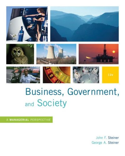 Business, Government and Society A Managerial Perspective 12th 2009 edition cover