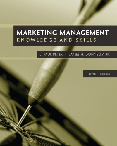 Marketing Management 11th 2013 edition cover