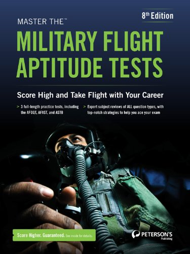 Master the Military Flight Aptitude Tests  8th edition cover