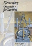 Elementary Geometry for Teachers  N/A 9780974814056 Front Cover
