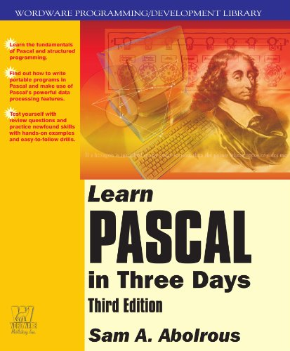 Learn Pascal in Three Days  3rd 2002 9781556228056 Front Cover