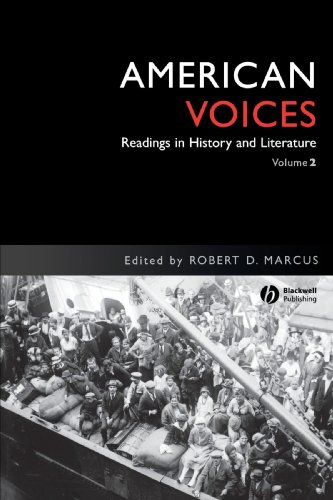 American Voices Readings in History and Literature  1992 (Reprint) edition cover