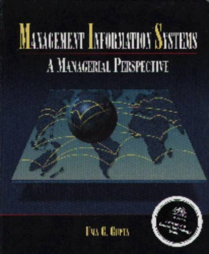 Management Information Systems : A Managerial Perspective 1st 9780314068057 Front Cover