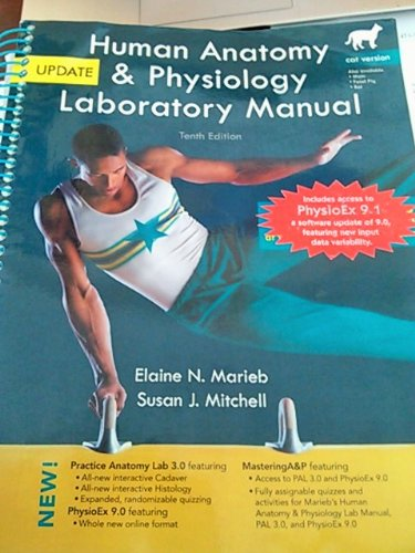 Human Anatomy and Physiology Laboratory Manual, Cat Version, Update  10th 2013 edition cover