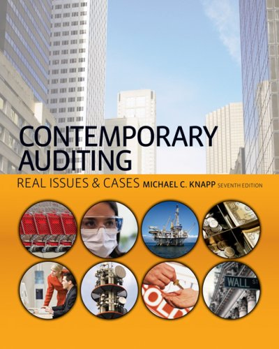 Contemporary Auditing Real Issues and Cases 7th 2009 edition cover