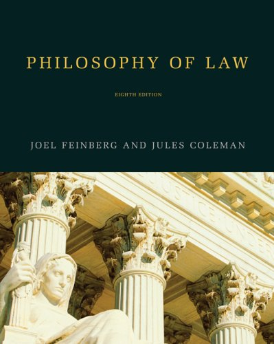 Philosophy of Law  8th 2008 edition cover