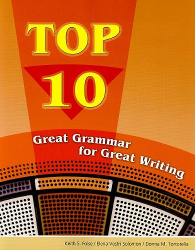 Top 10 Great Grammar for Great Writing  2008 edition cover