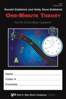 One Minute Theory for the Choral Classroom:  2005 edition cover