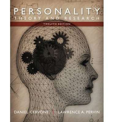 Personality Theory and Research 12th 2013 9781118360057 Front Cover