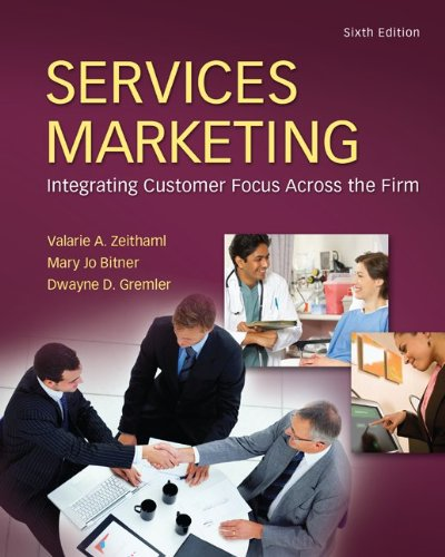 Services Marketing  6th 2013 9780078112058 Front Cover