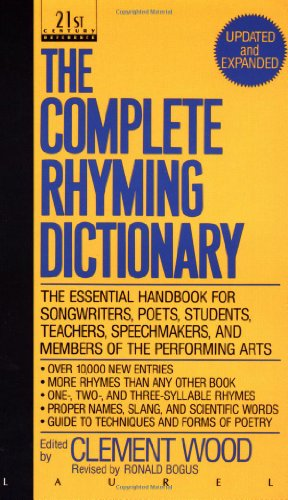 Complete Rhyming Dictionary   1991 (Revised) 9780440212058 Front Cover