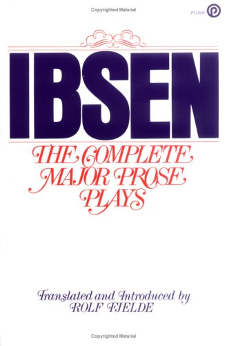 Complete Major Prose Plays  N/A edition cover