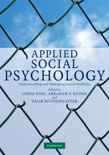 Applied Social Psychology Understanding and Managing Social Problems  2008 edition cover
