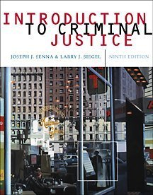 Introduction to Criminal Justice  9th 2002 9780534573058 Front Cover