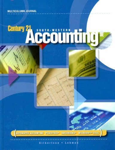 Century 21 Accounting - Multicolumn Journal  9th 2009 (Revised) edition cover