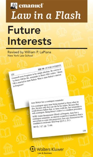 Liaf Future Interests 2011 Student Manual, Study Guide, etc.  9780735598058 Front Cover