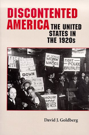 Discontented America The United States in the 1920s  1999 edition cover