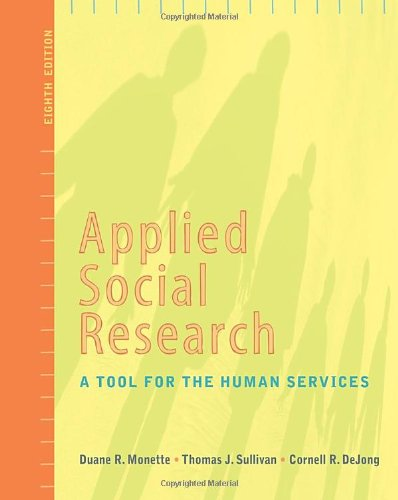 Applied Social Research A Tool for the Human Services 8th 2011 edition cover