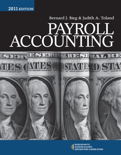 Payroll Accounting 2011  21st 2011 edition cover