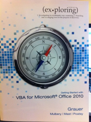 Exploring Microsoft Office 2010 Getting Started with VBA   2011 9781256184058 Front Cover