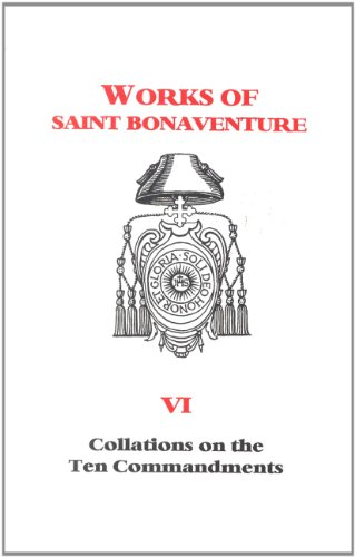 Collations on the Ten Commandments Works of St Bonaventure  1995 edition cover