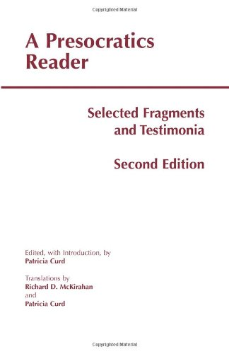 Presocratics Reader Selected Fragments and Testimonia 2nd 2011 edition cover