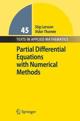 Partial Differential Equations with Numerical Methods   2003 edition cover