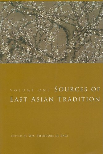 Sources of East Asian Tradition Premodern Asia  2008 edition cover