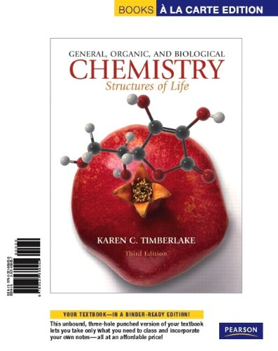 Book a la Carte for General, Organic, and Biological Chemistry Structures of Life 3rd 2010 edition cover